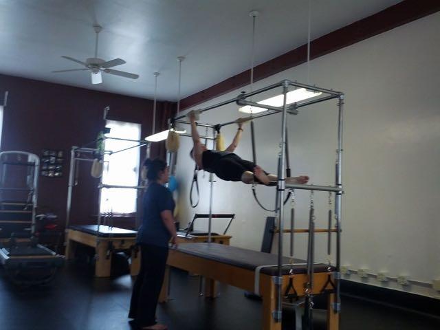 Spread Eagle Prep on Cadillac_Upside-Down Pilates_Pilate Hawaii_Pilates Honolulu