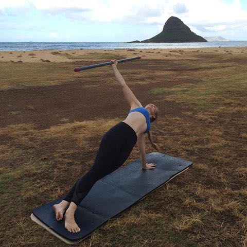 Side Plank with ActivMotion Bar_Upside-Down Pilates_Pilates Hawaii_Pilates Honolulu