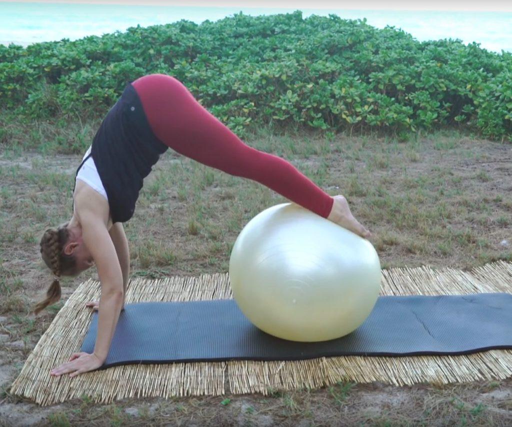 Elephant on the Balance Ball_Upside-Down Pilates_Pilates Hawaii_Pilates Honolulu