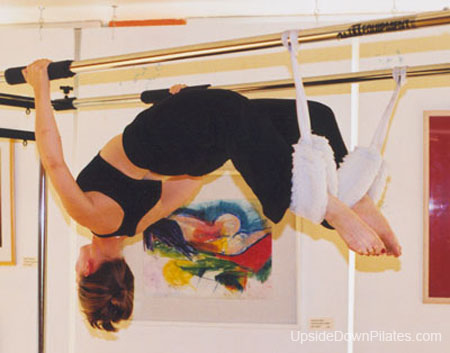 Spread eagle on Cadillac _Upside-Down Pilates_Pilates Hawaii_Pilates Honolulu