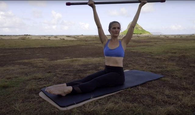 Side Twist with ActivMotion Bar_Upside-Down Pilates_Pilates Hawaii_Pilates Honolulu